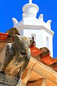 Portugal, Algarve. Faro. Gargoyle on Igreja da Se.