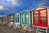 Nederlands. North Holland. Wijk aan Zee. Beach huts.