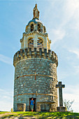 La Vierge de Monbahus ,Tower of The Virgin, dating from the late 19 century, a prominent landmark and viewpoint, Monbahus, Cancon, Lot-et-Garonne, France, Europe