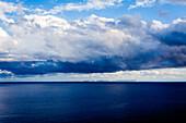 View at the uninhabited island of Cabrera lighthouse Cap Blanc, Mallorca, Balearic Islands, Spain