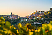Hillside Village at Sunset, Monforte d'Alba, Piedmont, Italy