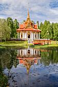 Außenansicht von König Chulalongkorn Memorial Building Thailändischer Pavillon, Bispgarden, Jamtland, Schweden