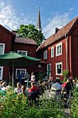 Summer garden in the Callanderska Garden museum, Sweden