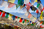 Prayer flags hanging outdoors