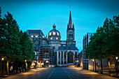 UNESCO World Heritage Aachen Cathedral at dawn, Aachen, North Rhine-Westphalia, Germany
