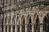UNESCO World Heritage, Bremen town hall, detail of front facade, Hanseatic City of Bremen, Germany