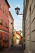 UNESCO World Heritage Old Town of Regensburg, alley a in the old town, Regensburg, Bavaria, Germany