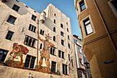 UNESCO World Heritage Old Town of Regensburg, Goliath house, Regensburg, Bavaria, Germany