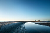 UNESCO World Heritage the Wadden Sea, beach at St. Peter-Ording at low-tide, Schleswig-Holstein, Germany, North Sea