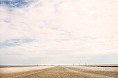 UNESCO World Heritage the Wadden Sea, low tide on the beach of St. Peter-Ording, Schleswig-Holstein, Germany, North Sea