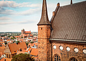 UNESCO World Heritage Hanseatic city of Wismar, view of churches in the Old Town, Wismar, Mecklenburg-West Pomerania, Germany