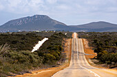 Access road from Hopetoun into Cape le Grand National Park in Western Australia