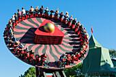 Liseberg amusement park with huge turntable, Sweden