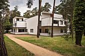UNESCO World Heritage Bauhaus school, House Kandinsky / Klee, Master Houses at Dessau, Dessau-Rosslau, Saxony-Anhalt, Germany