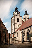 UNESCO World Heritage Martin Luther towns, town church at market square at Wittenberg, Saxony-Anhalt, Germany