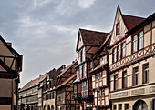 UNESCO World Heritage framework town Quedlinburg, historic town center, Saxony-Anhalt, Germany
