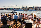 Youth hostel with restaurant and bar on the sailing ship Vandrarhem af Chapman and Skeppsholmen, Stockholm, Sweden