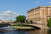 Footbridge to ReichstagRiksdaghuset, Stockholm, Sweden
