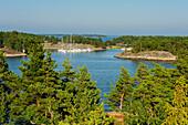 small marina in the archipelago island Fiskehamn, Stockholm, Sweden
