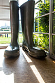 the giant boots at the museum of the compa, agricultural conservatory, chartres (28), france