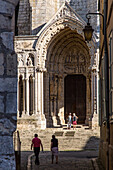 the north door seen from rue saint-yves, notre-dame cathedral, chartres (28), france