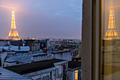 apartment in the 7th arrondissement with a view of the eiffel tower, paris (75), france