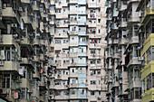 Densely populated housing estate, apartment building, Quarry Bay, Hong Kong Island, Hong Kong, China, Asia