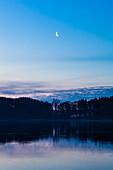 moon, Westensee, ice, Schleswig, Schleswig Holstein, Germany