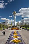 Kazakhstan, Astana City, New Administrative City, Nurzhol Avenue, Bayterek Monument, Shooting point: Nuzhole Avenue