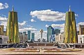 Kazakhstan, Astana City, New Administrative City, Nurzhol Avenue, Bayterek Monument