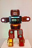 'England, London, Tate Modern, Artwork titled ''Bakelite Robot'' by Nam June Paik dated 2003'