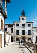 Plaza Mayor (Main Square) and Town Hall, Cuacos de Yuste, Cáceres, Extremadura, Spain