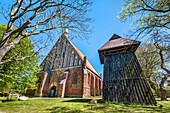 Church in Wiek, Ruegen Island, Mecklenburg-Western Pomerania, Germany