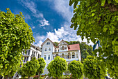 Spa architecture, Sellin, Ruegen Island, Mecklenburg-Western Pomerania, Germany