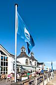 Restaurant on the pier, Sellin, Ruegen Island, Mecklenburg-Western Pomerania, Germany