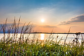 Sunset, Gager, Moenchgut, Ruegen Island, Mecklenburg-Western Pomerania, Germany