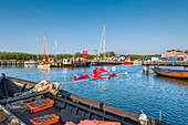 Harbour, Thiessow, Mönchgut, Ruegen Island, Mecklenburg-Western Pomerania, Germany