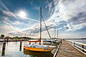 Marina, Altefaehr, Ruegen Island, Mecklenburg-Western Pomerania, Germany