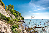 Chalk cliffs near Sassnitz, Jasmund National Park, Rügen Island, Mecklenburg-Western Pomerania, Germany