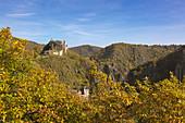 Are castle, Altenahr, Ahrsteig hiking trail, Rotweinwanderweg hiking trail, Ahr, Rhineland-Palatinate, Germany
