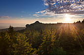 View from Grosser Seeriegel to Richard-Wagner-Kopf, Grosser Arber, Bavarian Forest, Bavaria, Germany
