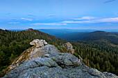 View from Richard-Wagner-Kopf to Grosser Seeriegel, Grosser Arber, Bavarian Forest, Bavaria, Germany