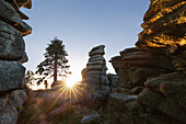 Sunrise, Dreisessel mountain, Bavarian Forest, Bavaria, Germany