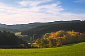 Landscape near Nuerburg, Eifel, Rhineland-Palatinate, Germany