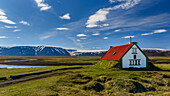bothy on a plateau in the highlands of iceland