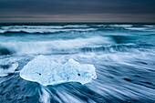 ice at the black Diamond beach, Jokulsarlon, southcoast, Iceland