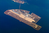 the Ch?bu airport of Nagoja is built on an artificial island in the bay of Ise, city of Tokoname, Chita peninsular, prefecture Aichi, Japan