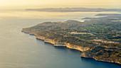 aerial image of the Dingli-Cliffs close to the city of Dingli, southcoast of Malta
