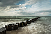 Zingst, Baltic Sea, sea, spray, breakwater, beach, seaside resort, spa, beach, coastal strip, Germany