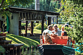 Spreewald Biosphere Reserve, Brandenburg, Germany, Kayaking, Recreation Area, Family Vacation, Family Outing, Paddling, Wilderness, Excursion, Day Trip, paddling down the river Landscape